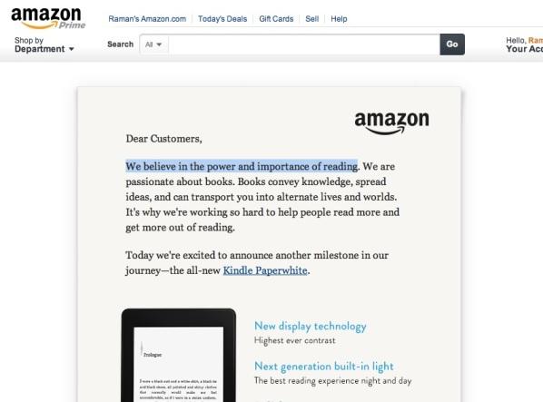 What Amazon Believes
